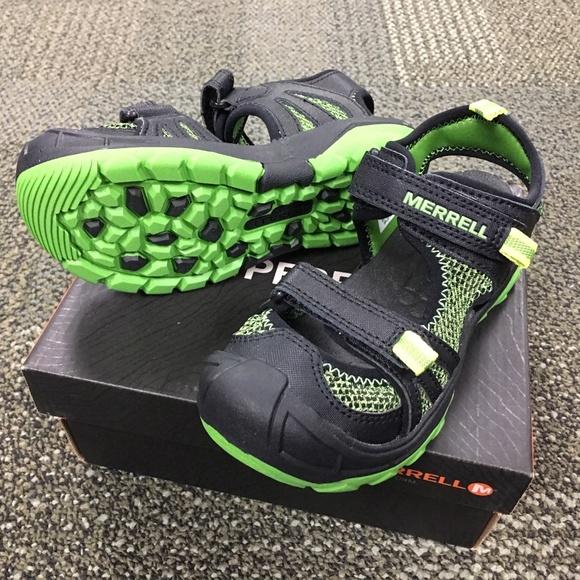 cfab82338aaf Merrell Hydro Rapid Sandal Black Green NEW Box 12